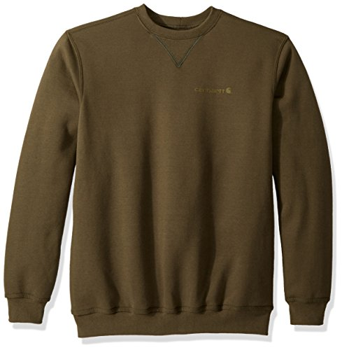 Graphic Crew Neck Sweatshirt - Carhartt Men's Midweight Graphic Crewneck Sweatshirt, Moss, Large