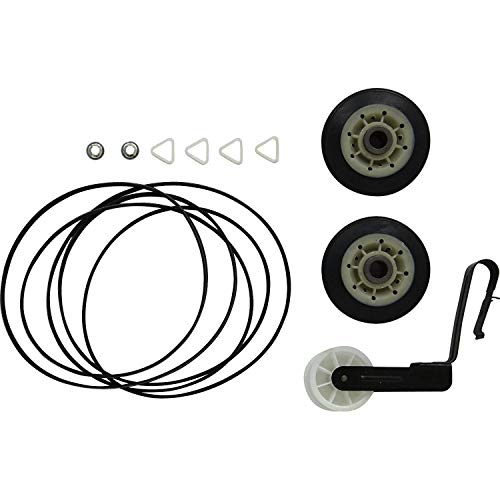ANTOBLE 4392065 Dryer Kit 341241 Belt, 691366 Idler Pulley & 349241t Drum Rollers for Kenmore Sears Kirkland Roper Dryer ()