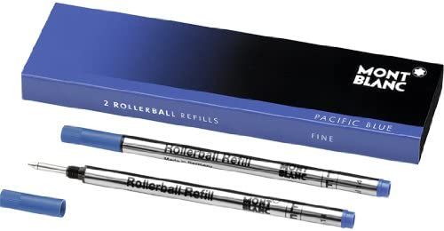 Montblanc Refills Pacific Blue 2 Pack Medium Point Rollerball Pen - MB105159