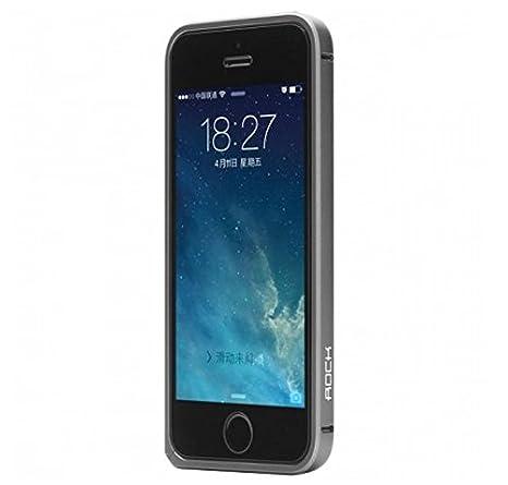 half off 1daab bb473 iPhone 5S / 5 Rock Arc Slim Guard Series Ultrathin Aluminum Frame Metal  Bumper Case Silver