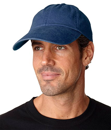 Cotton Twill Pigment (Adams Sunbuster Pigment Dyed Twill Cap With Extra Long Visor (Navy) (ALL))