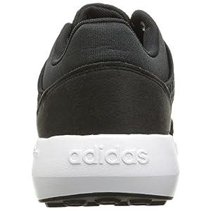 adidas Originals Men's Cloudfoam Race Running Shoe, Black/Black/White, 10 M US