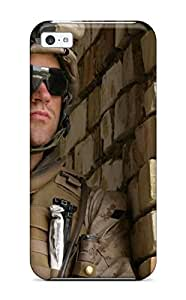 New Arrival Case Cover With HDgLfET14754oXLyV Design For iphone 5s- Warzone Soldiers Military Soldier Man Made Military