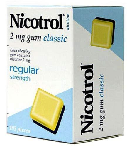 4 Boxes Nicotrol Nicotine Gum 2mg Classic Original 420 Pieces