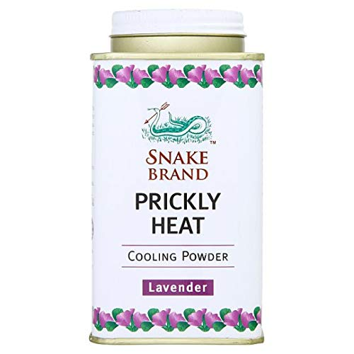 Snake Brand Prickly Heat Cooling Powder Relaxing 140 g. (10 Pack) by Snake Brand