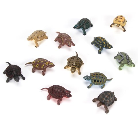 Bulk Buy: Darice Crafts for Kids Plastic Turtles 2 inches 12 pieces (3-Pack) 1029-10