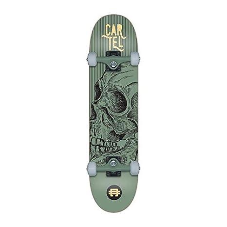 CARTEL Skateboard 7,8 - Mixte - Vert métallisé: Amazon.es ...