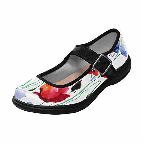 Interestprint Femmes Confort Mary Jane Appartements Casual Chaussures De Marche Multi 3