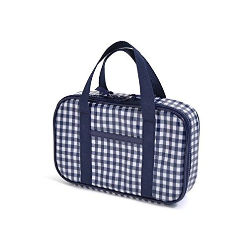 Kids sewing, sewing kit, Mass checked large, dark blue made in Japan N2304210 of case on style (japan import)