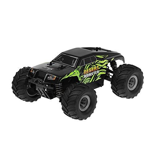 MicroX Racing 1/24 Micro Scale Desert Monster Truck Ready to Run 2.4ghz RC Remote Control Radio (Micro Nitro Rc)