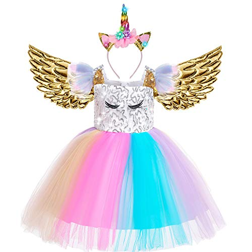 Beauta Unicorn Costume Cosplay Princess Dress up Birthday