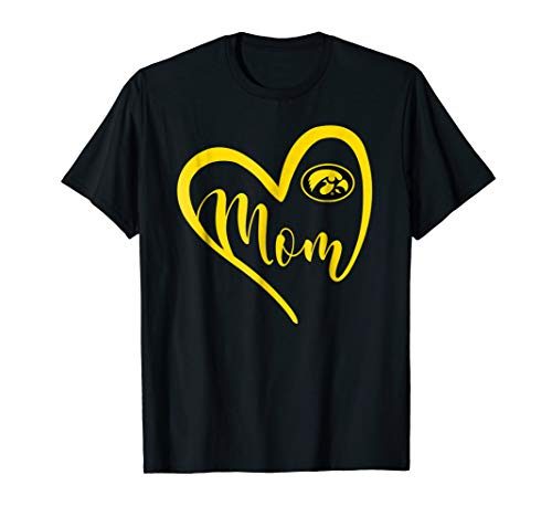 Iowa Hawkeyes Heart Mom T-Shirt - Apparel