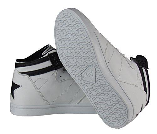 Herren Schuhe - Freizeitschuhe - High Sneaker - mit Stern an der Ferse - in schwarz oder weiß Weiß