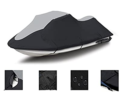 SUPER HEAVY-DUTY, DESIGNED FOR STORAGE MORING TRAILERING PURPOSES 600 DENIER Polaris SLT750, SLT700 Jet Ski Trailerable Cover Black/Grey