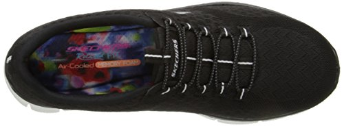 Skechers Damen Sport Empire - Rock um Relaxed Fit Fashion Sneaker Weiß / Schwarz / Multi