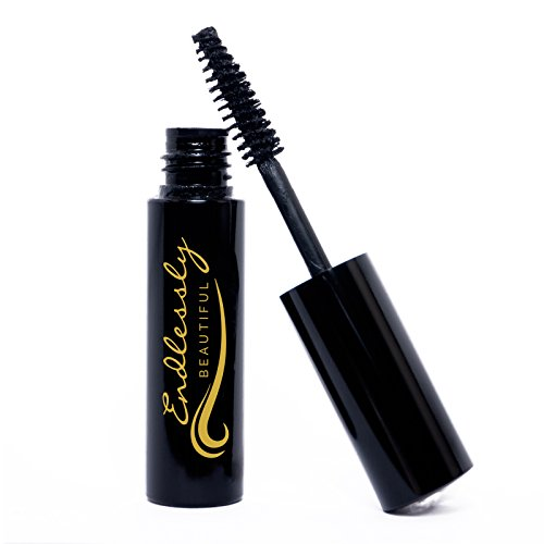 All Natural Organic Mascara | Black | Vegan & Cruelty Free | For Lash Growth, Lengthening and Volume | Best Gluten Free Eyelash Conditioning Eye Makeup | Volumizing & Washable Mascara | Made in USA (All Natural Mascara)