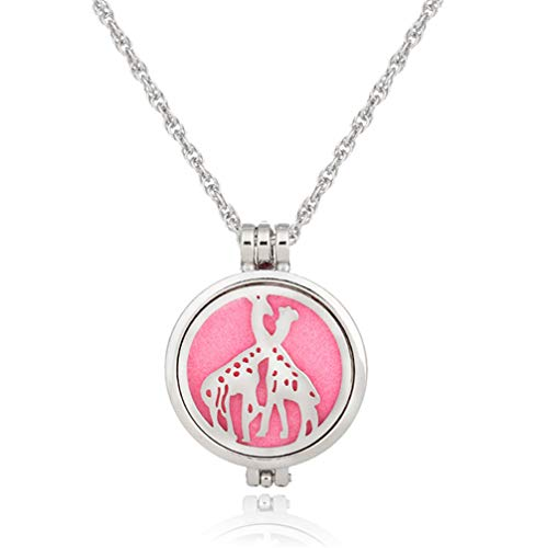 Myhouse Silver Color Women Girls Animal Pattern Openwork Necklace Aromatherapy Sweater Chains Charm Accessories, Style 3
