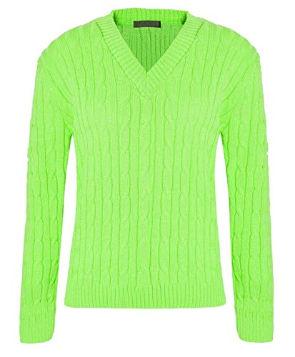Pomme Unique Femme Taille 21fashion Manches Longues Vert Pull WBqwnYTH0