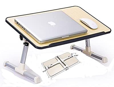 JH-BestCrafts Adjustable Laptop Bed Tray Table, Foldable, Portable Breakfast Table, Reading Holder for Sofa Couch Floor, Ergonomic sitting / Stand up Notebook Table