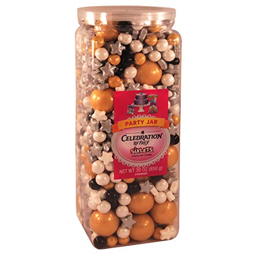 Celebration By Frey Mixlicious Classy Mix. Gumball & Chocolate Candy Mix 30 oz Party Jar -