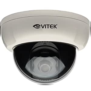 Vitek CCTV VTD-A4F/IW Alpha Series 620tvl Indoor fixed 3.6mm Dome with WDR, OSD and Night Watch DSS Technology - 12VDC - White