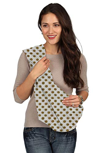 Karma White with Golden Dot Soft Carrier Baby Sling - Extra Large