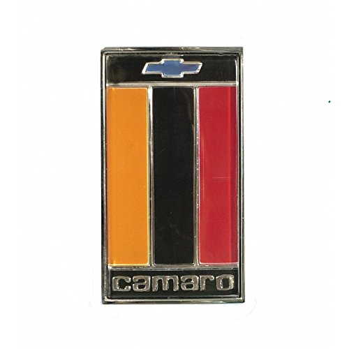 Eckler's Premier Quality Products 33142929 Camaro Header Panel Emblem Orange/Black/Red