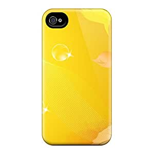 Hot RITwDNQ-6103 Abstract Birds Flowers Tpu Case Cover Compatible With Iphone 4/4s
