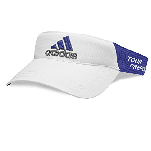 Adidas Mens Visor - Adidas Tour Visors, White/Night Flash, OSFA