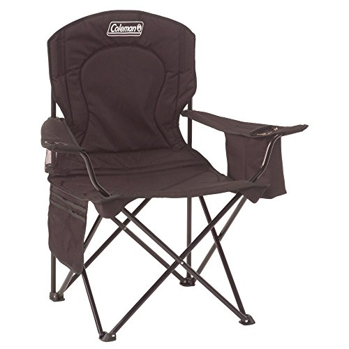 Coleman Cooler Quad Portable Camping Chair Black