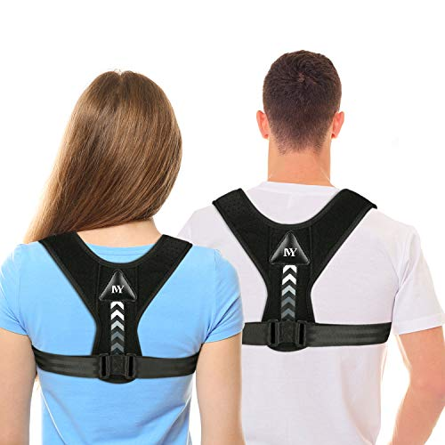Posture Corrector for Men and Women,Updated Adjustable Upper Back Brace for Clavicle Support and Providing Pain Relief from Neck, Back and Shoulder(Universal) (Back Brace As Seen On Tv)