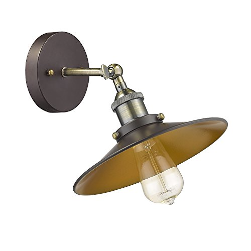 MICSIU Wall Sconce Vintage Wall Lamps Incandescent 180 Degree Adjustable Lights,Oil Rubbed Bronze,UL listed(60W Edison Bulb Included)