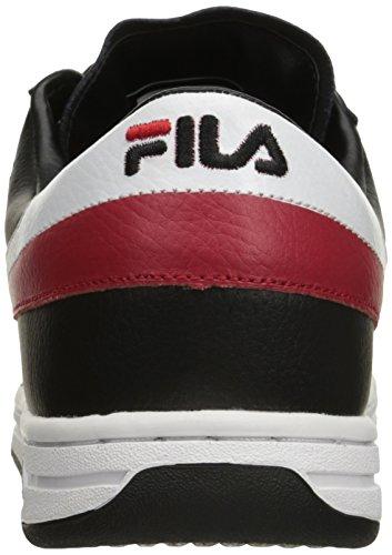 Fila Mens Tennis Classico Originale Sneaker Nero / Bianco / Rosso Fila