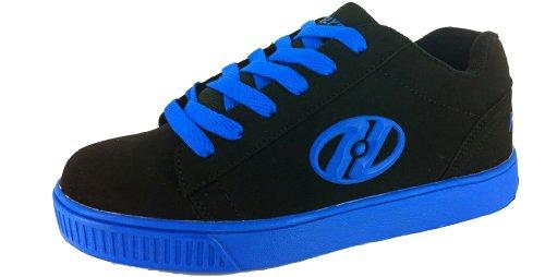 Heelys Straight Up Skate Shoe (Toddler/Little Kid/Big Kid), Black Royal, 7 M US Big Kid