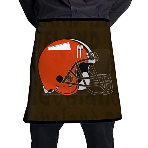 Gdcover Custom Colorful Cleveland Browns Kitchen Chef Waist Serving Apron Unisex Kitchen Bib Cooking Baking Gardening for Men/Women
