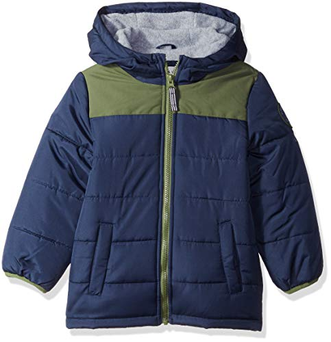 Carter's Boys' Adventure Bubble Jacket, Current Navy/Little Scout, 5/6 ()