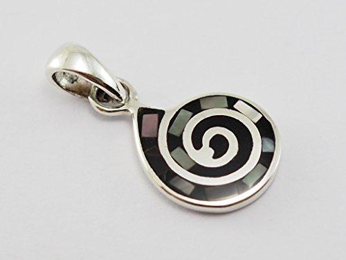 1 pc. 925 Sterling Silver Pendant Shiva Eye 3/8