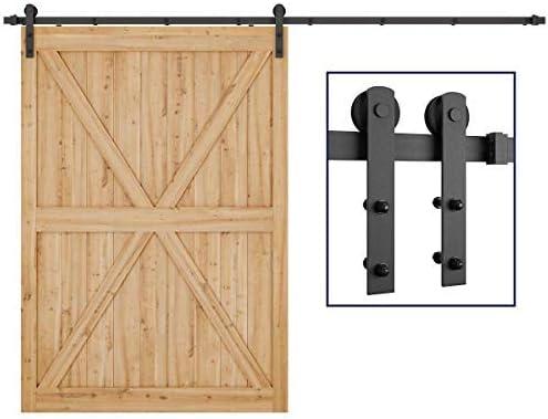 Herraje para rieles Set, unidad para puerta corredera colgante y carril unidad Sistema de puerta corredera puerta hardware Kit para puertas correderas divisores puertas interiores: Amazon.es: Bricolaje y herramientas
