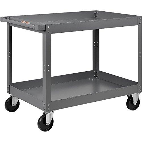 Edsal 2 Shelf Deep Tray Steel Stock Cart 36x24 800 Lb. Capacity