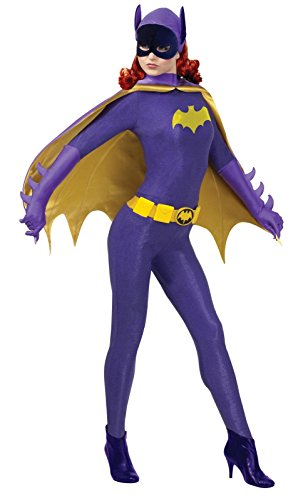 Batgirl Costume Purple - Rubie's Costume Grand Heritage Batgirl Classic TV Batman Circa 1966, Purple/Gold, Large Costume
