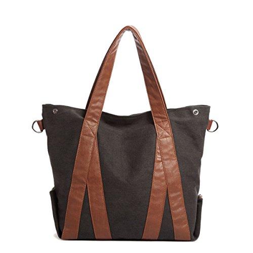 Frauen Vintage-Leinwand Messenger Ipad Schulter Handtasche Side Die Universelle Einsatz Tasche ,B-37cm*14cm*42cm