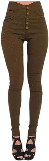 YAXINHE Womens Skinny Pencil Pants Sexy Elastic Skinny Leggings