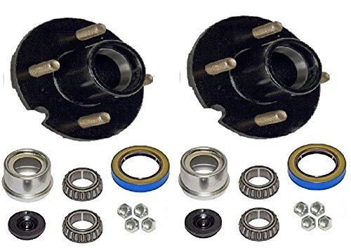 2-Pack Trailer Wheel Hub Complete Kit Steel 4 Lug BT-8 2000 Lb. 1 in.
