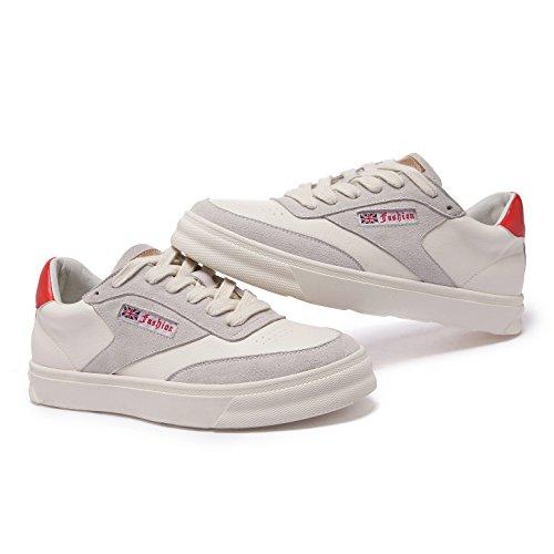 Zapatillas Mujer de Material Welldone2018 Sintético de Deporte rouge gris P7wqxg