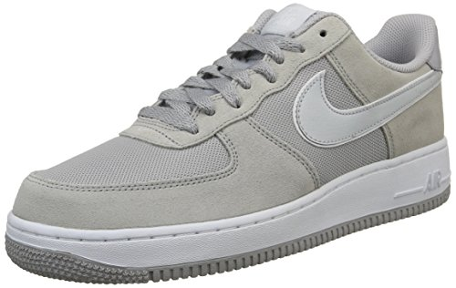nike air force 1 mens trainers 488298 sneakers shoes (uk 7.5 us 8.5 eu 42, wolf grey pure platinum white 090) - Nike Air Force Trainers