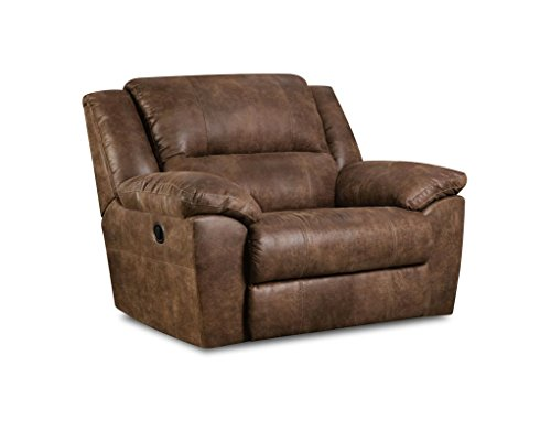Simmons Upholstery Phoenix Mocha Cuddler (Away Oversized Chaise Recliner)