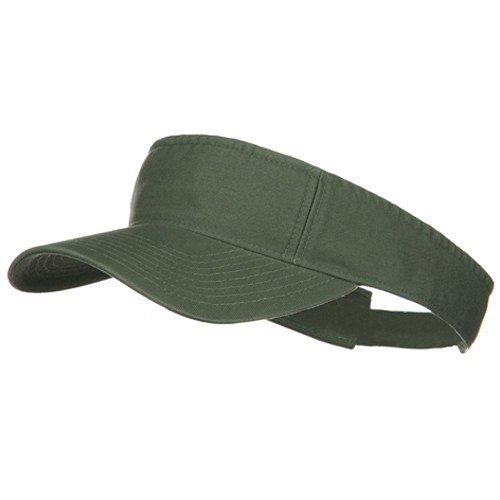 MG Pro Style Cotton Twill Washed Visor - Olive