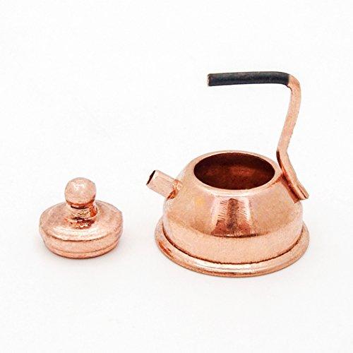 Odoria 1:12 Miniature Copper Kettle Tea Pot Dollhouse Kitchen (Dollhouse Pot)