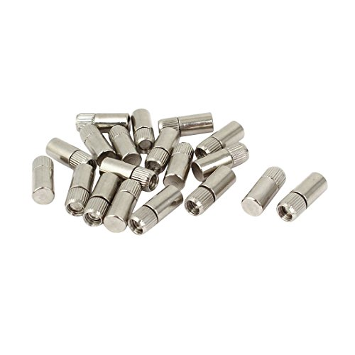 Metal Shelf Pins - uxcell 21mm x 8mm Metal Cylindrical Rod Studs Pegs Shelf Support Pins Silver Tone 20PCS