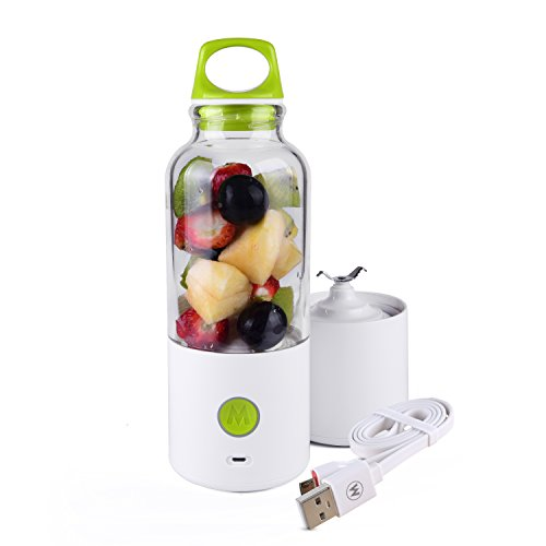 IDEAcone 700ml Portable Electric Personal Blender, USB Charging Take-Along Bottle Juicer, Great for smoothies, shakes, and baby formulas (Green)